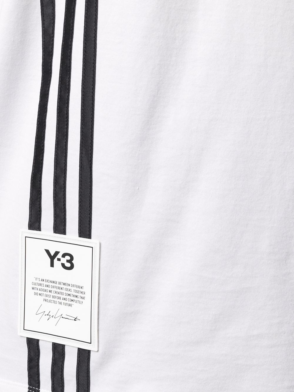 Picture of Adidas Y-3   Three-Stripe Cotton T-Shirt