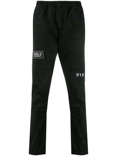 Picture of R T A | Relaxed-Fit Graphic Print Trousers
