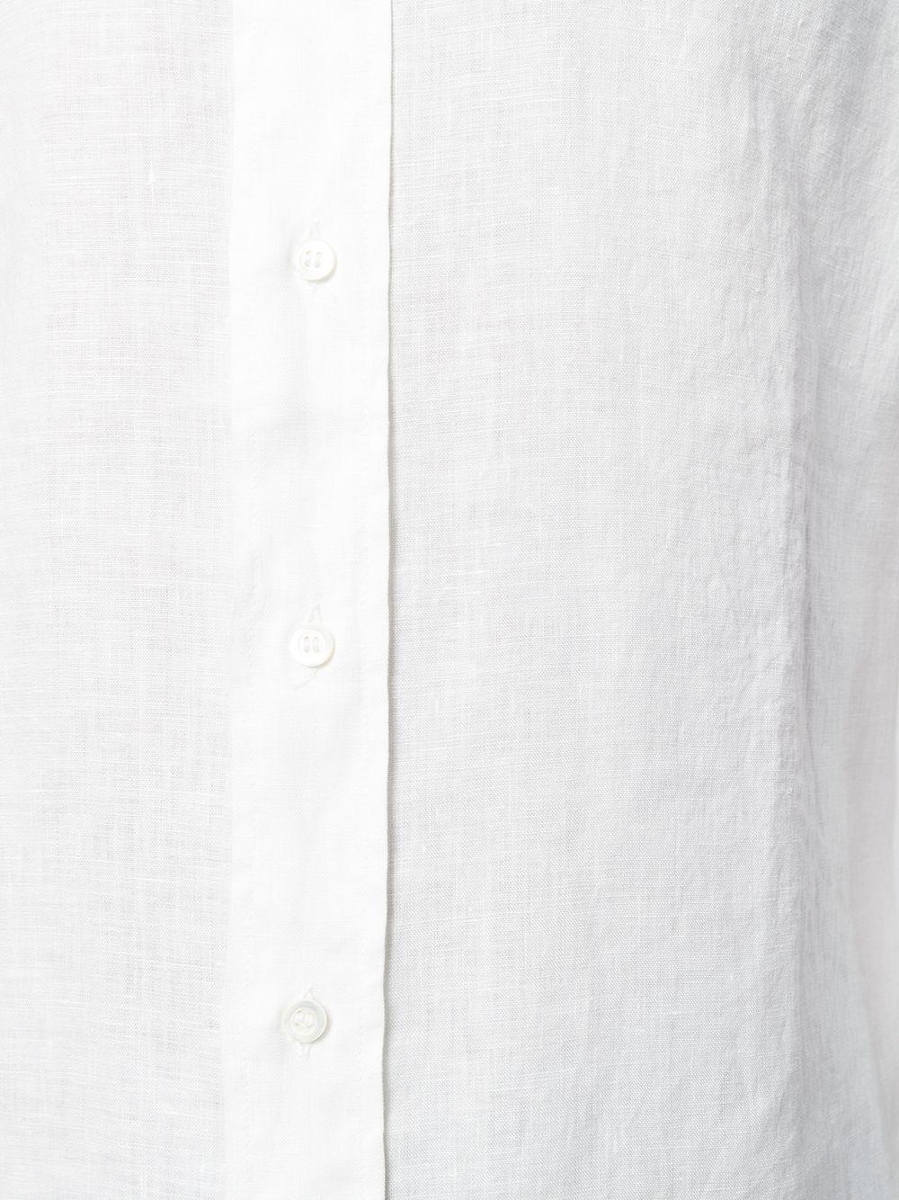 Picture of Aspesi | Linen Mandarin Collar Shirt