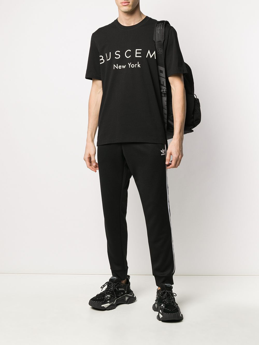Picture of Buscemi | Logo-Print Cotton T-Shirt