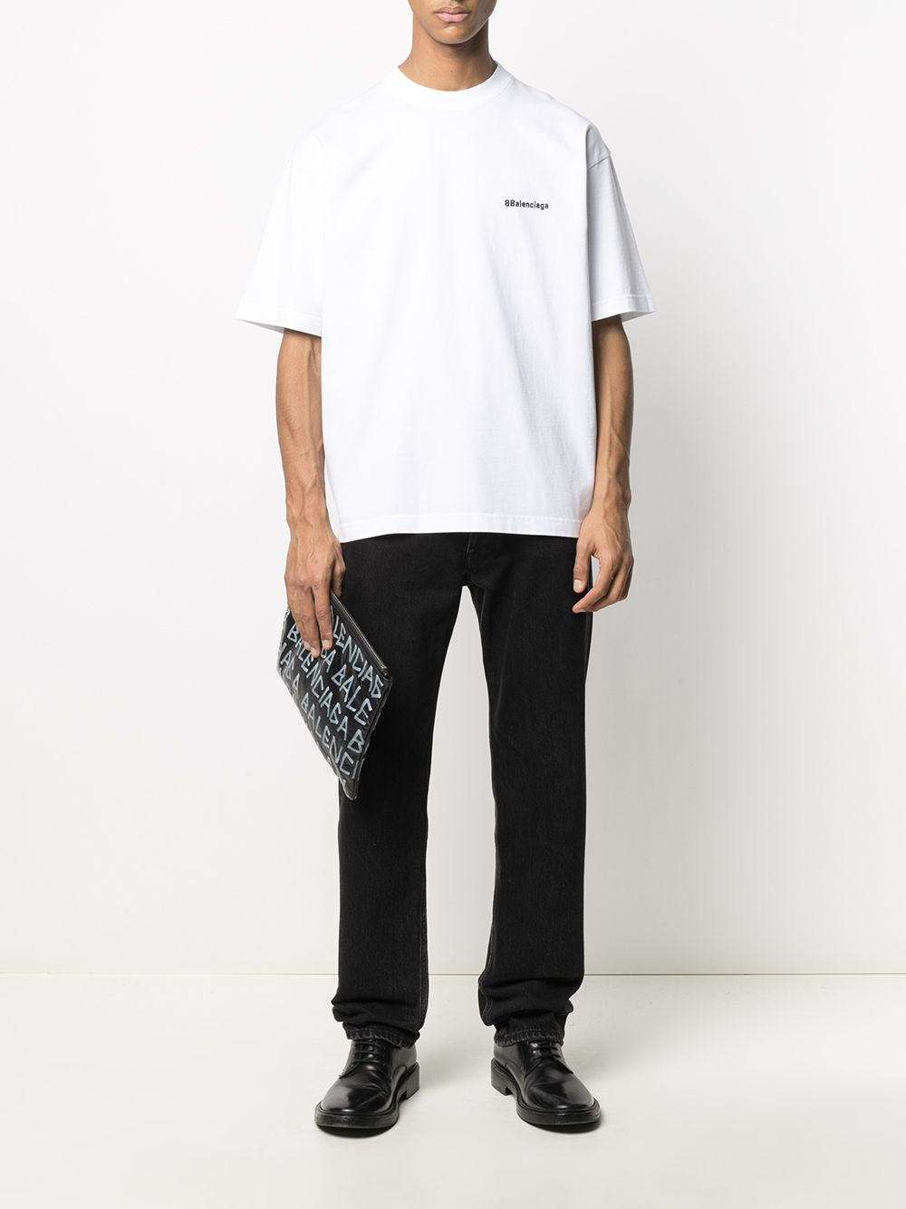 Picture of Balenciaga | Bb Embroidered Logo T-Shirt