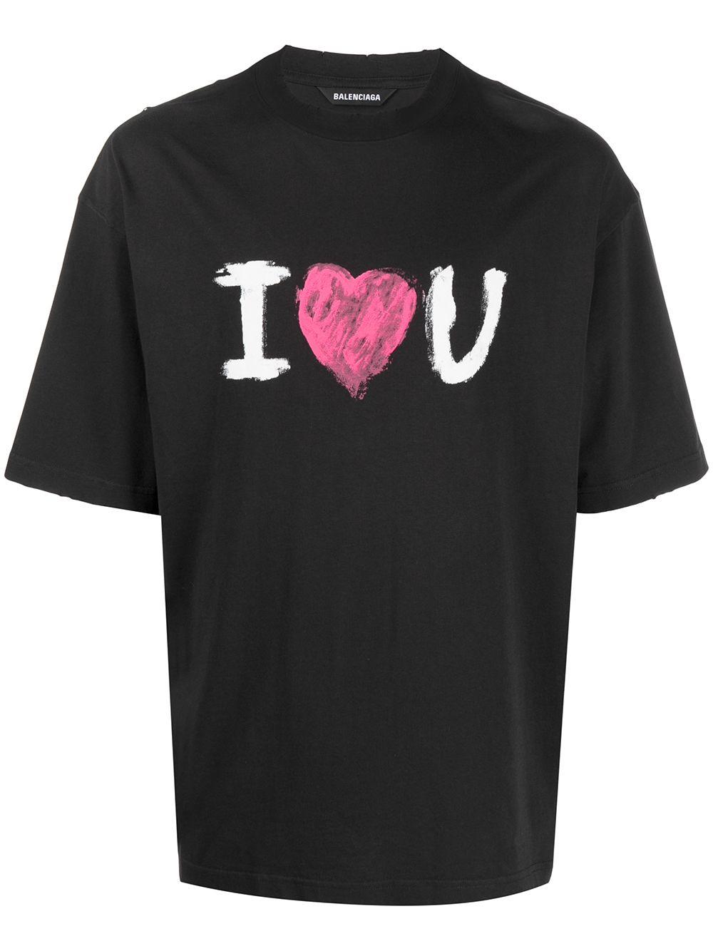 Picture of Balenciaga | I Love You Print T-Shirt