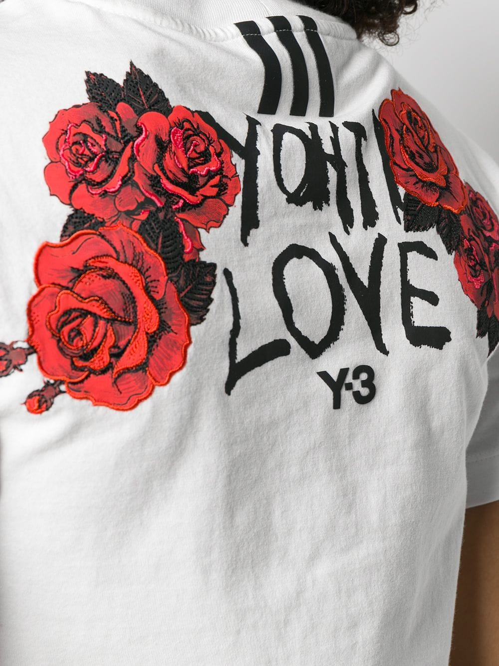 Picture of Adidas Y-3 | Rose Print Logo T-Shirt