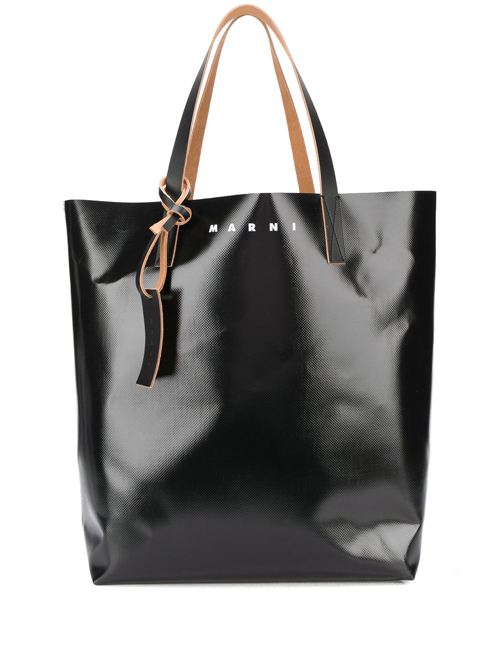Picture of Marni   Camo Cell Print Coated Shopping Bag