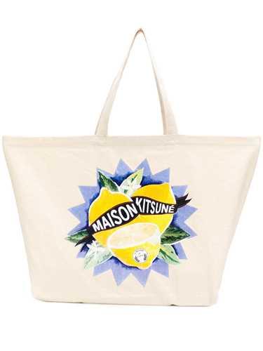 Picture of Maison Kitsune` | Lemon Print Tote Bag