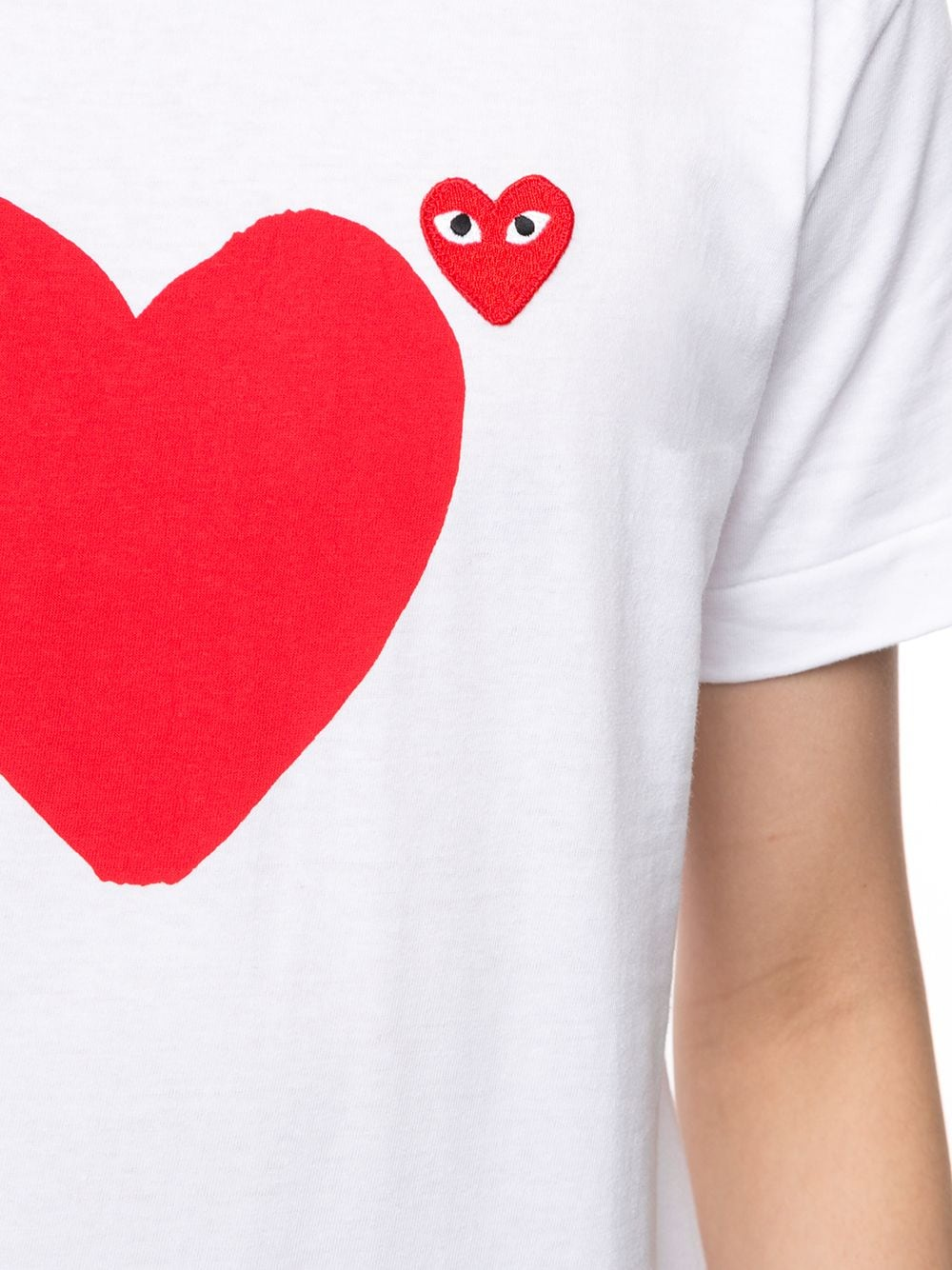 Picture of Comme Play | Heart Print Logo T-Shirt
