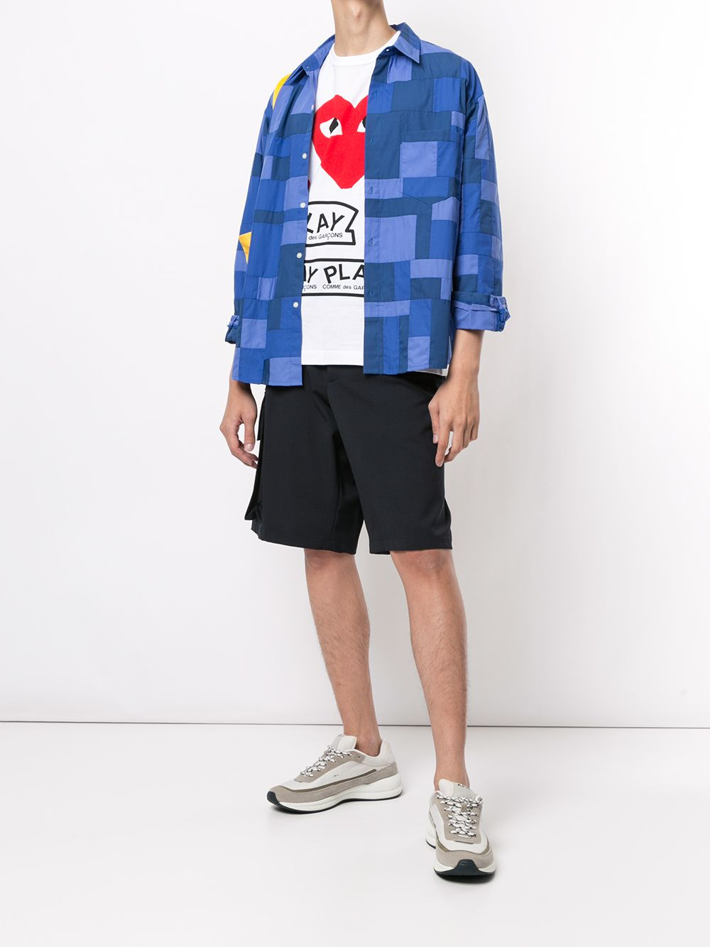 Picture of Comme Play   Logo Print T-Shirt