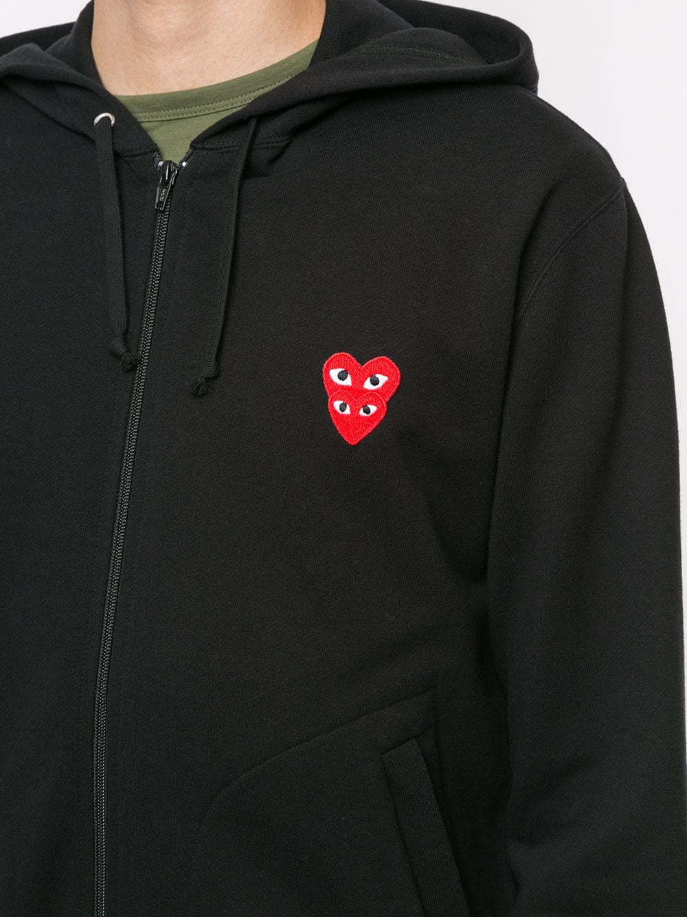 Picture of Comme Play | Embroidered Logo Hoodie