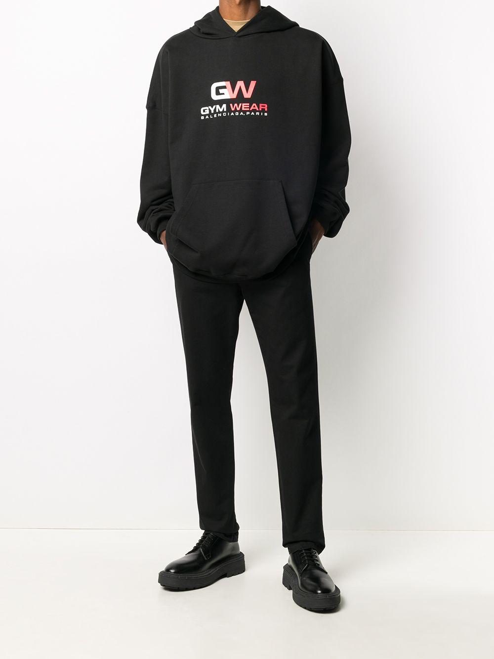 Picture of Balenciaga | Logo Print Cotton Hoodie