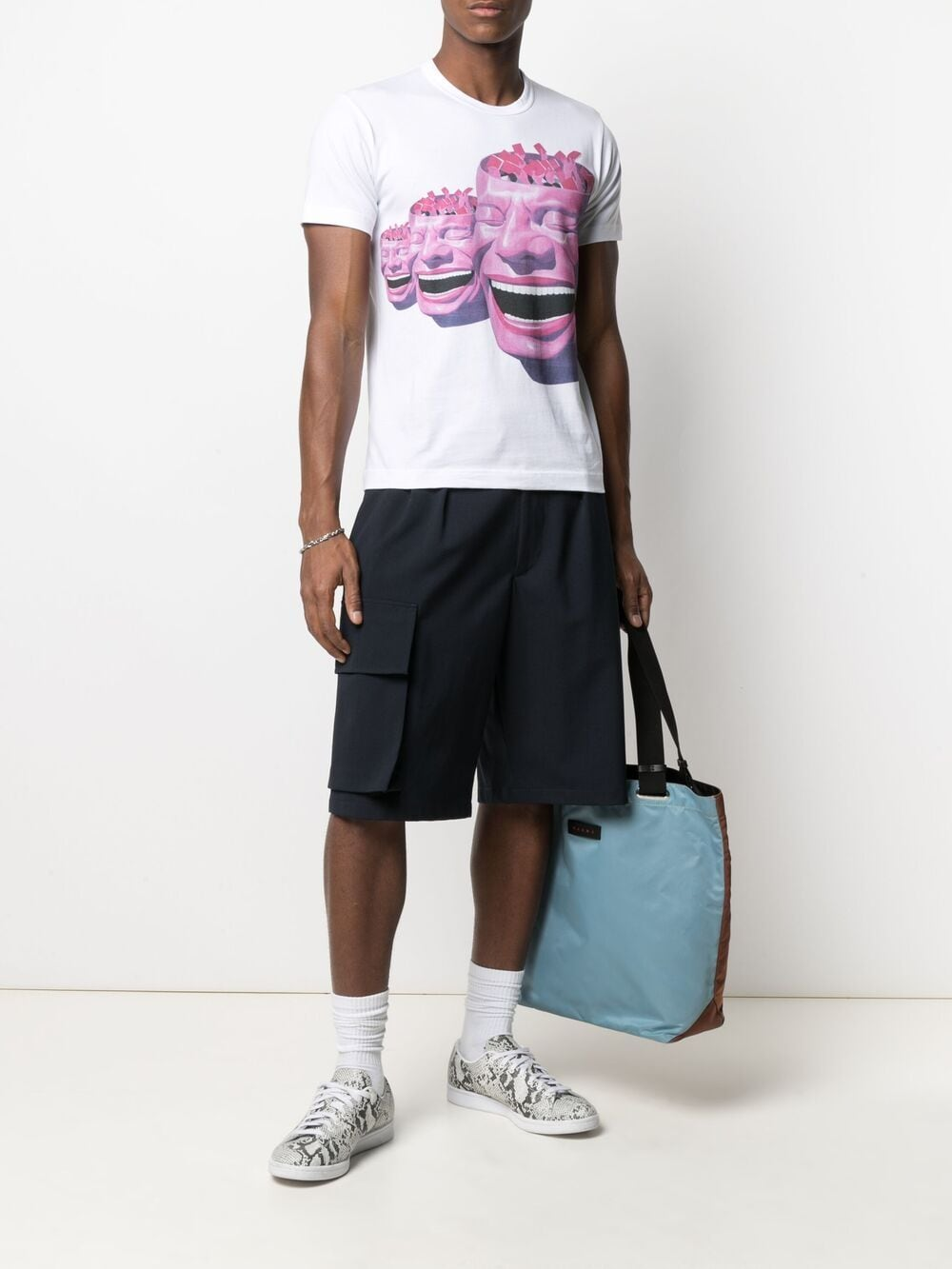Picture of Comme Shirt   Graphic-Print Cotton T-Shirt