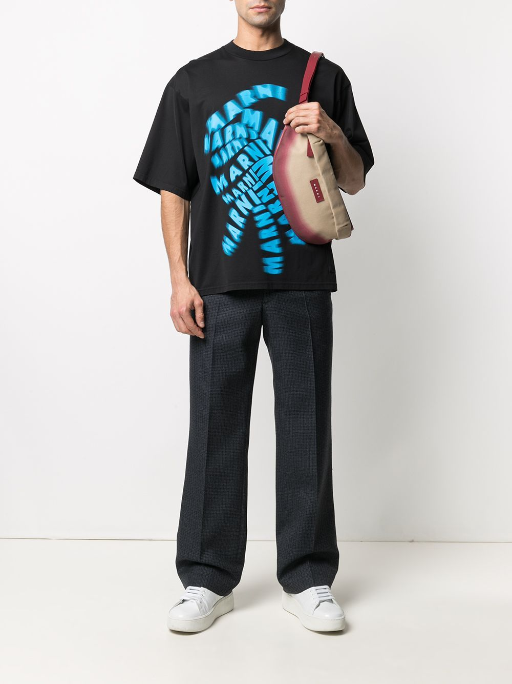 Picture of Marni   Logo-Print T-Shirt