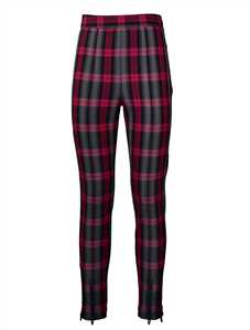 Picture of T By Alexander Wang | Tartan Skinny-Fit Leggings