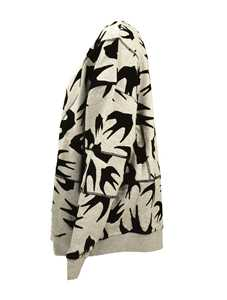 Picture of Mcq | Swallow Print Asymmetric Sweatshirt