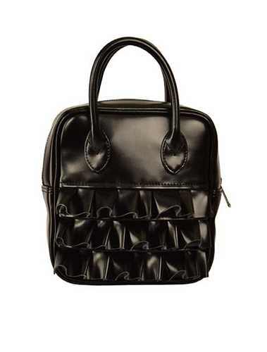 Picture of Comme Girl | Black Ruffled Duffle Bag