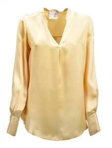 Picture of Forte_Forte | Satin Split Neck Blouse