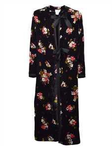 Picture of Forte_Forte | Scented Garden Print Velvet Kimono