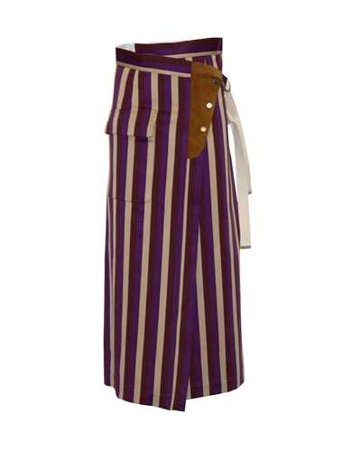 Picture of Golden Goose Deluxe Brand | Wrap Around Striped Skirt