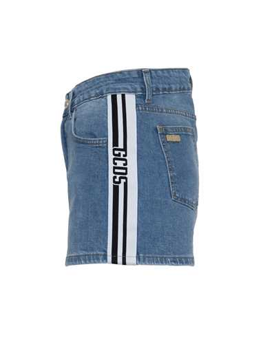 Picture of Gcds | High Waisted Denim Shorts