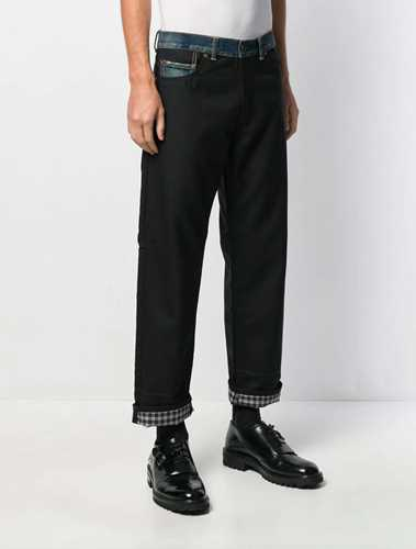 Picture of Junya Watanabe Man | Contrast Loose-Fit Jeans