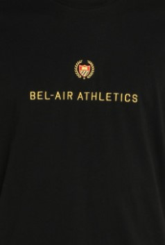 Picture of Bel Air Athletics | Black T-Shirt With Logo Embroidery