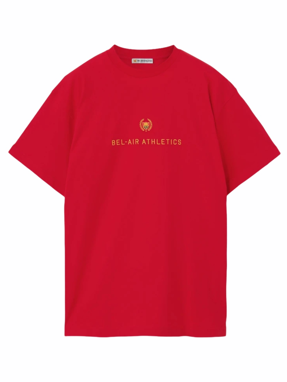 Picture of Bel Air Athletics   Black T-Shirt With Logo Embroidery