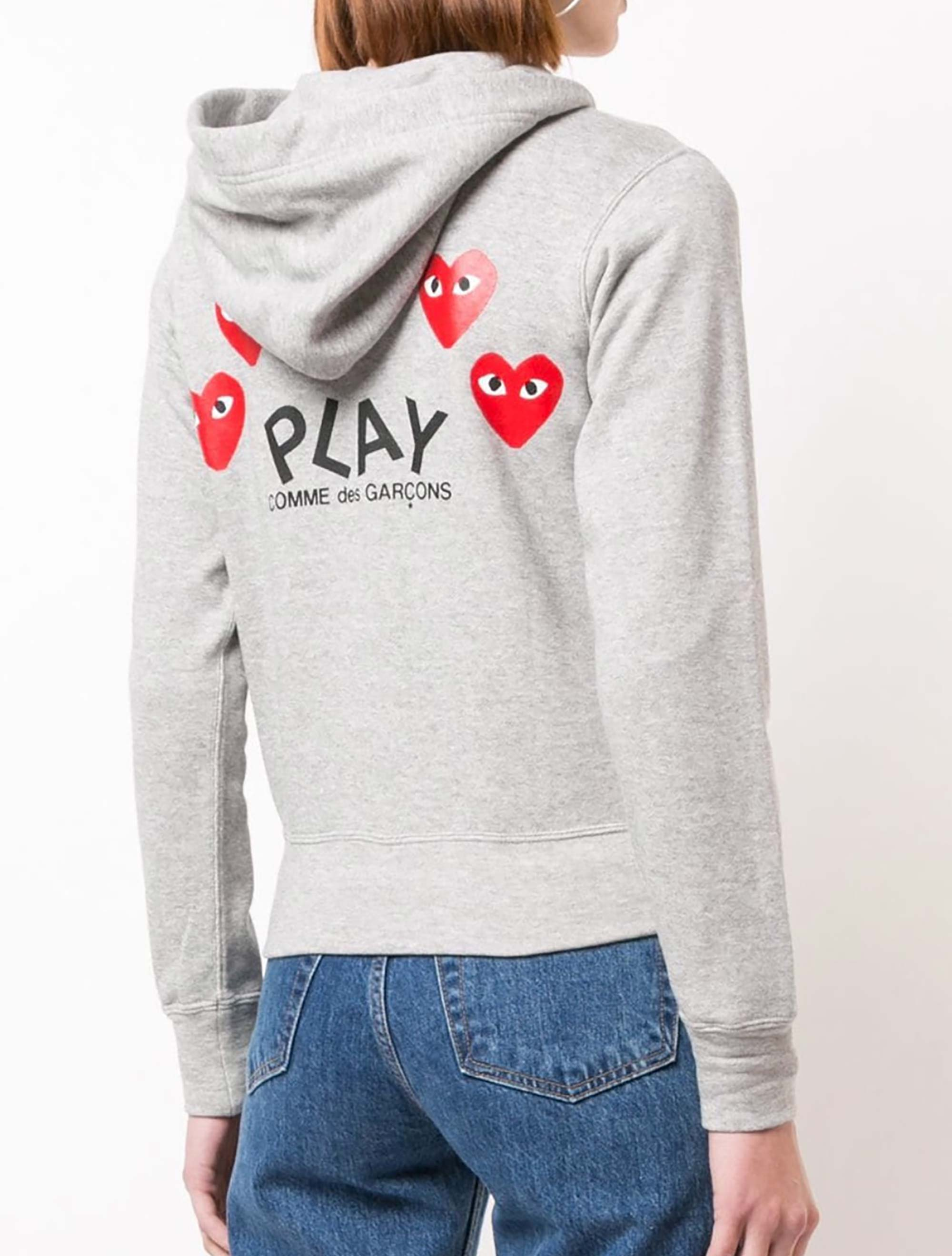 Picture of Comme Play | Heart Logo Hoodie