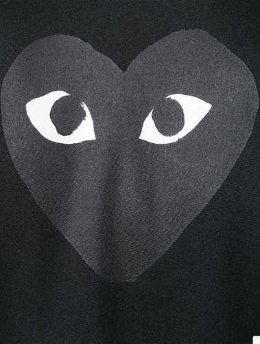 Picture of Comme Play | Heart Print Track Jacket