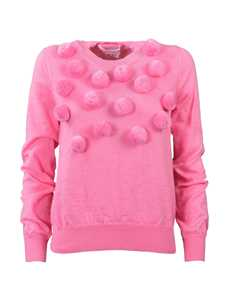 Picture of Comme Girl | Pom Pom Knitted Jumper