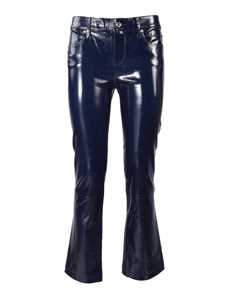 Picture of R T A | Lambskin Cropped Trousers