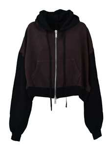 Picture of Unravel Project | Two-Tone Cropped Hoodie