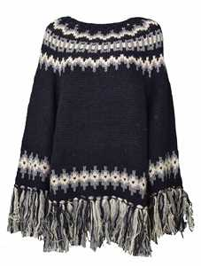 Picture of Semicouture   Oversized Sweater With Fringes