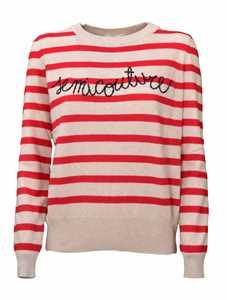 Picture of Semicouture   Molly Riga Striped Sweater